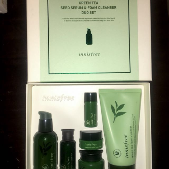 e127777b564 INNISFREE GREEN TEA SEED SERUM AND FOAM CLEANSER DUO SET ✨