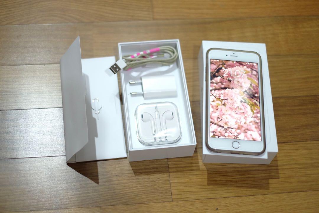 IPHONE 6+ 64GB Gold EX-CEWE, bonus 6 case!