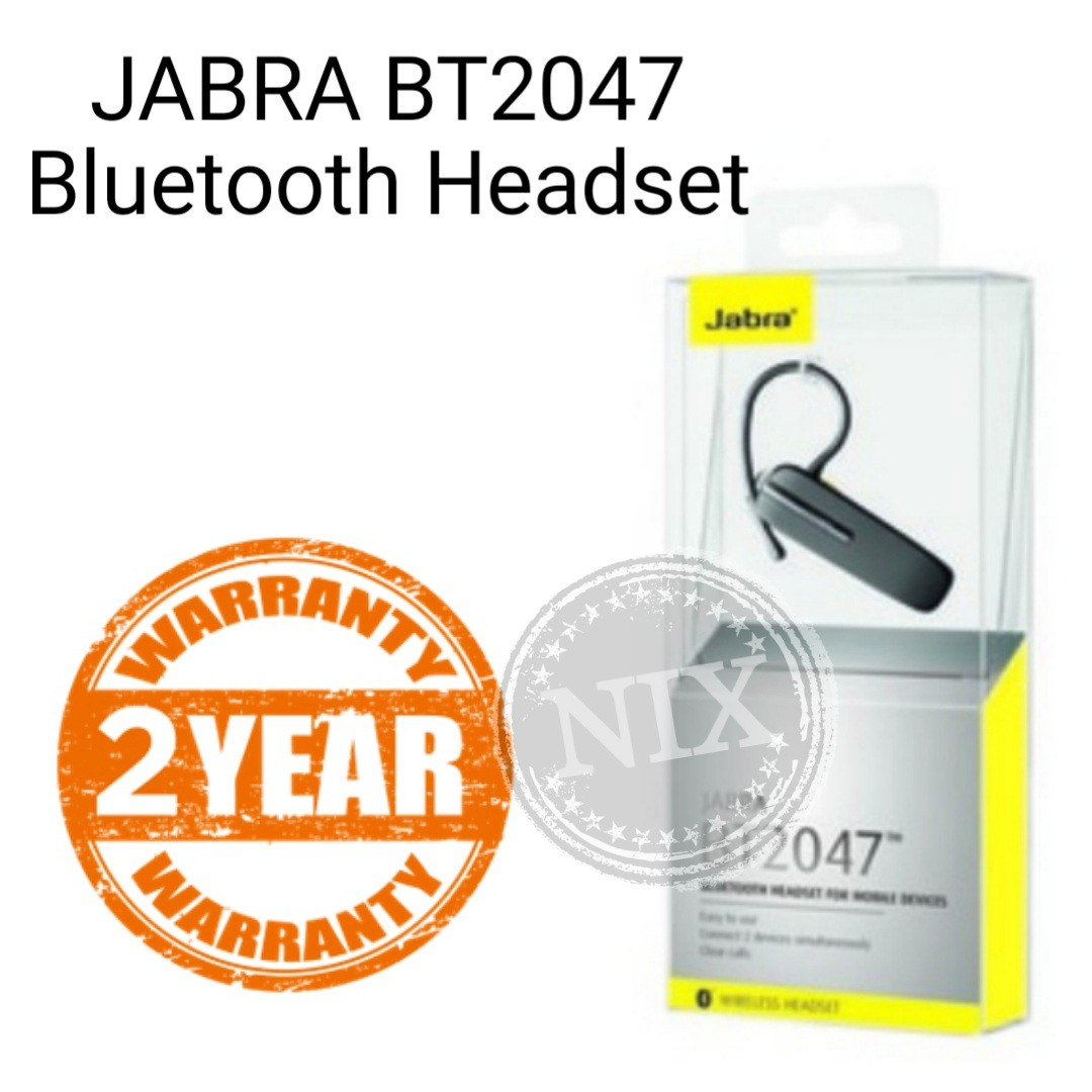 885e938958c Jabra BT2047 Wireless Bluetooth Headset Stereo Earpiece, Electronics ...