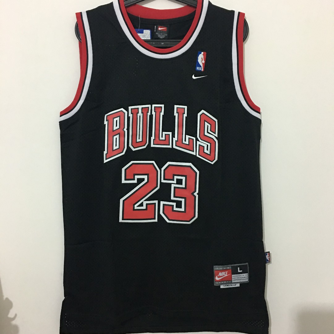 6be59221a3531c ... closeout chicago bulls 23 michael jordan jersey black sports sports  apparel on carousell 94aa2 32c43