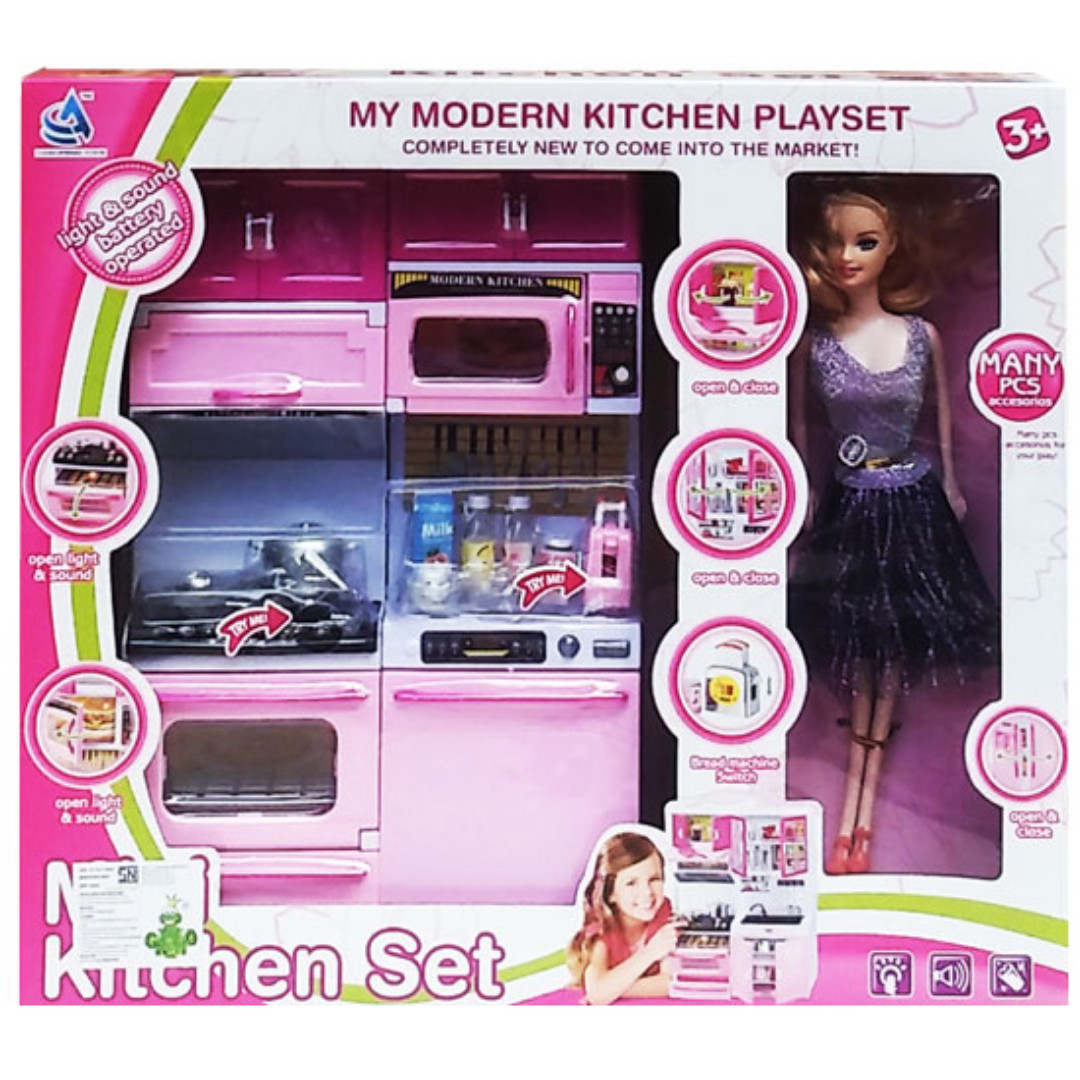 Mainan Masak Masakan Mini Kitchen Set Barbie 5619 Bayi Anak Mainan Baby Walker Di Carousell