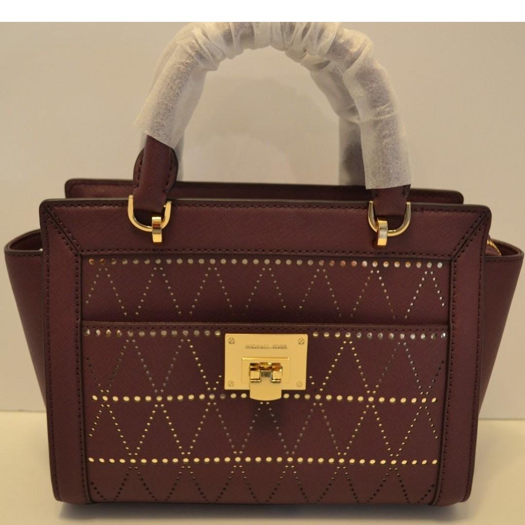 0bfb8f191bc2 Michael Kors Tina Small Tz Messager Bag (Plum), Luxury, Bags ...