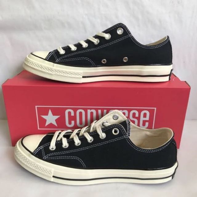 655f70ff876 INSTOCK  CONVERSE CT AS 70s BLACK LOW CUT CANVAS