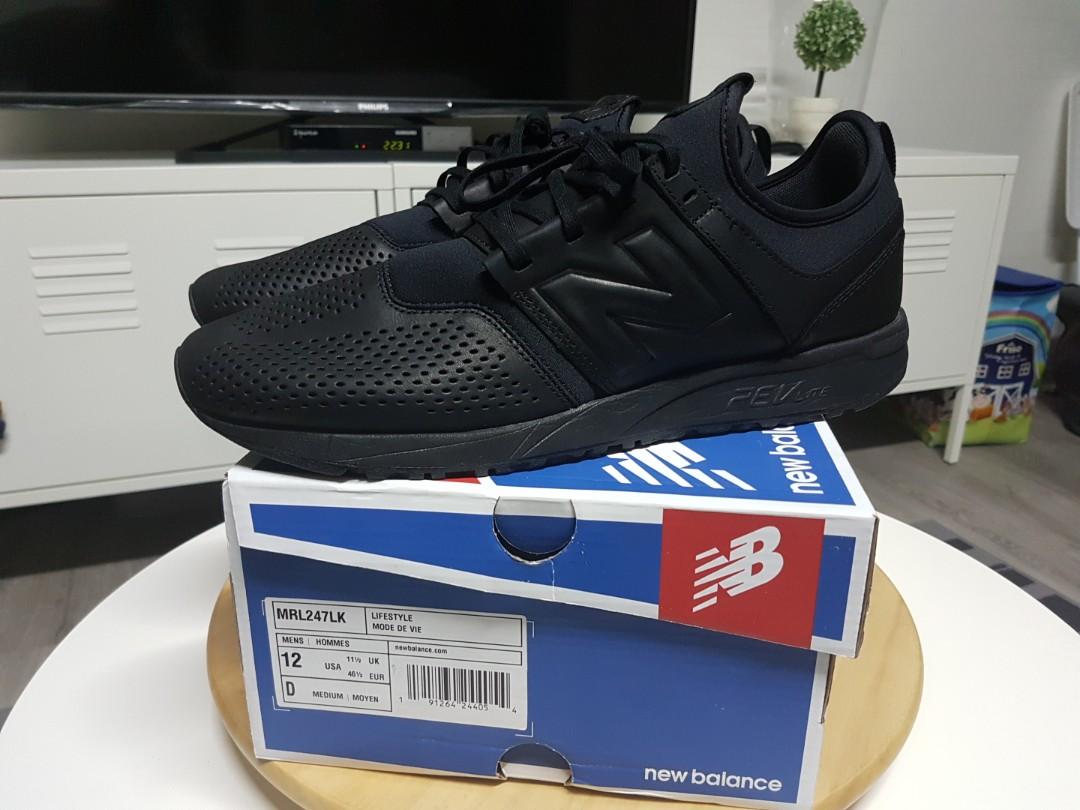 New Balance 247 Black Shoes, Men's