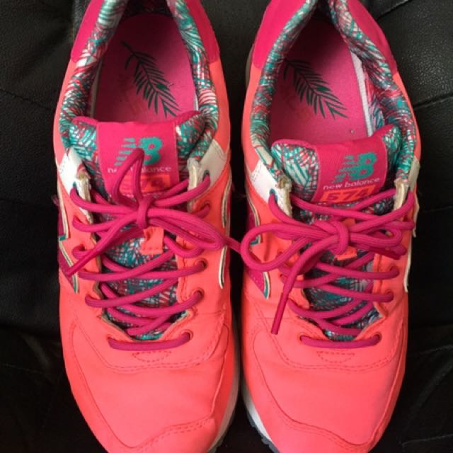 size 40 74028 8ad4e New Balance 575 Coral turquoise teal size 9, Women's Fashion ...