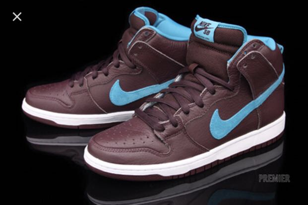 buy online 92e3f 2cc96 Nike SB dunk high premium Burgundyaquamarine, Mens Fashion, Footwear,  Sneakers on Carousell