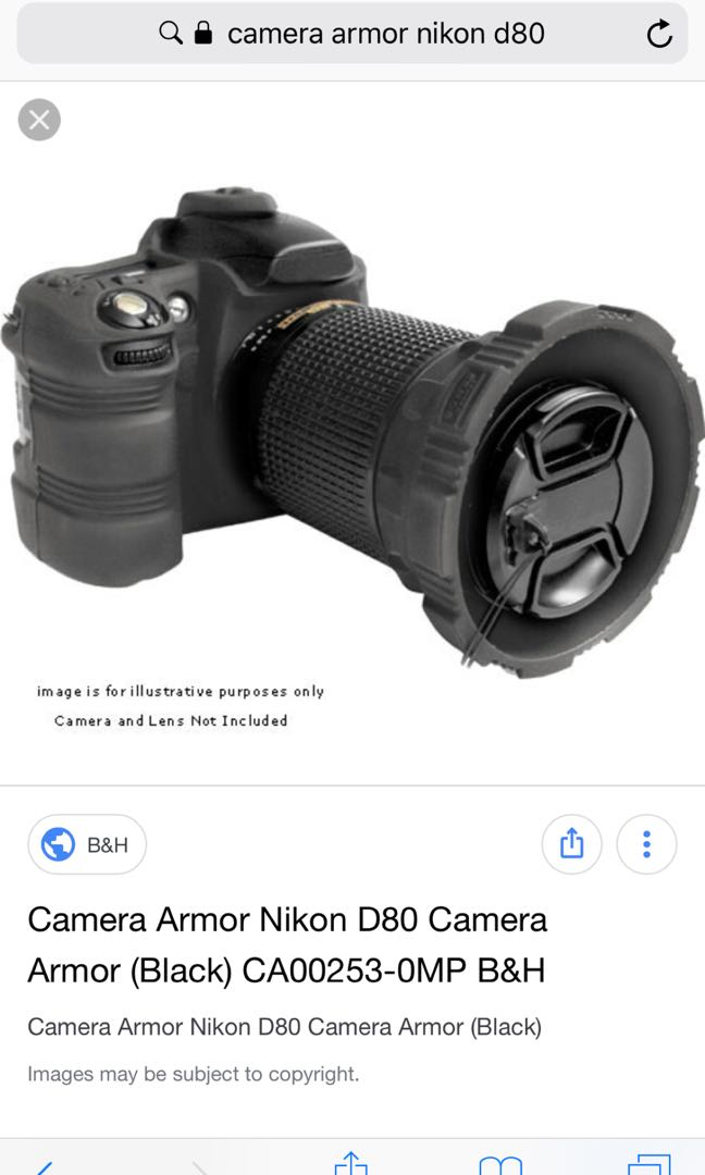 Nikon D80 Camera Armor