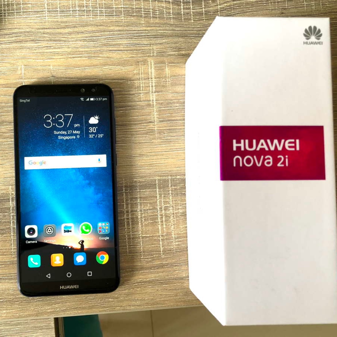 One month old unused Blue 5 9in Huawei Nova 2i for sale