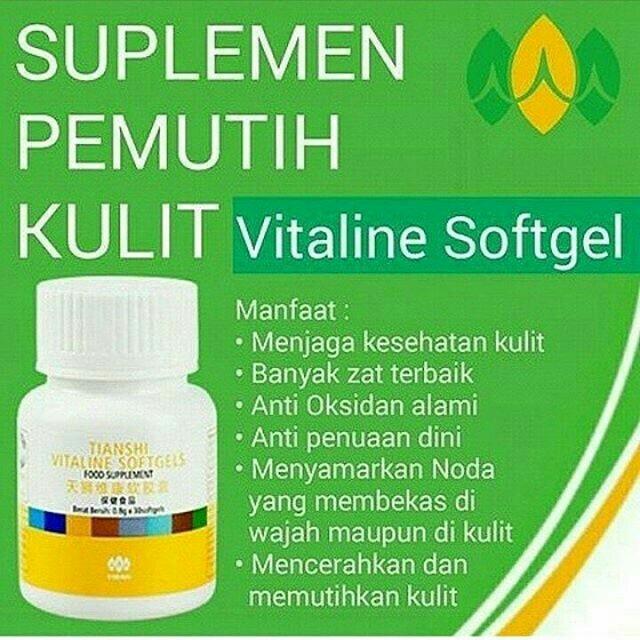 ... Harga Pemutih Wajah Herbal Alami Vitaline Softgel Tiens 10 Kapsul Source Pemutih Kulit Source