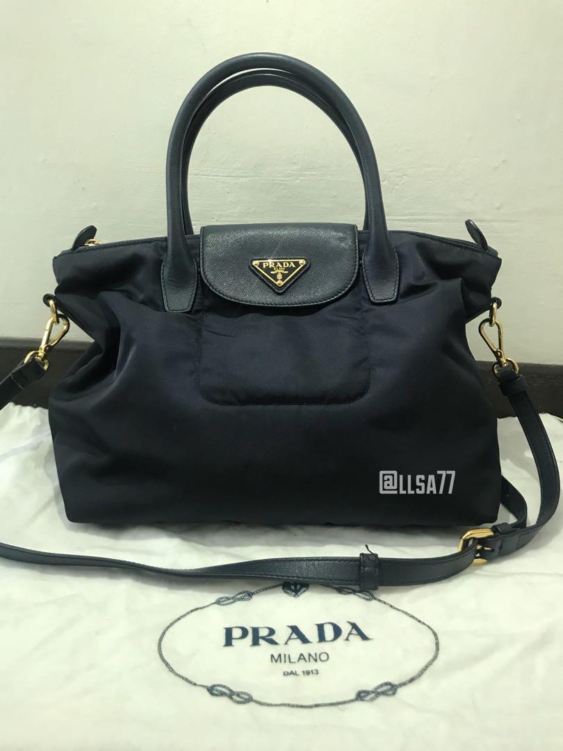 6b45cea10d ... closeout prada tessuto saffiano shoulder bag luxury bags wallets  handbags on carousell d4e43 01ccd