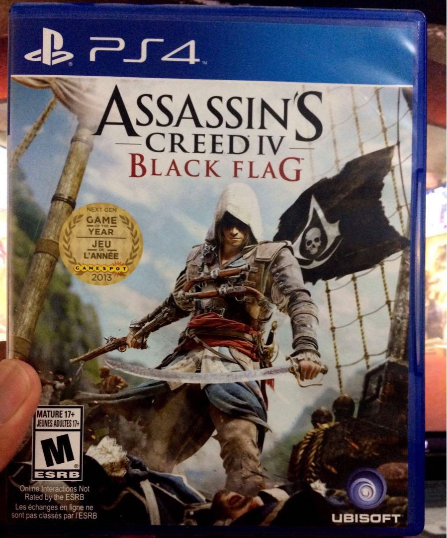 Ps4 Assassin S Creed Iv Black Flag Video Gaming Video Games On