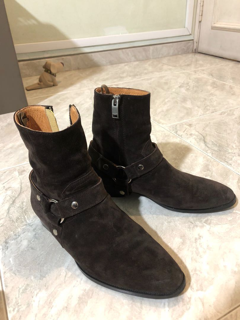 0185f9e5f3416 Saint Laurent chocolate brown suede wyatt boots