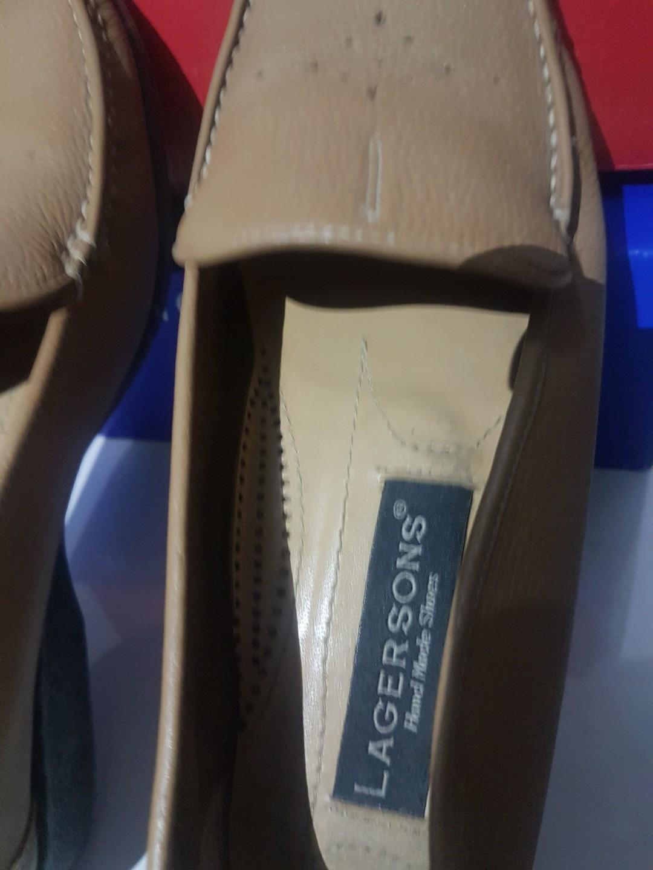 Sepatu Kulit Original Lagerson Hand Made Shoes Coklat khaki size 37 boleh barter