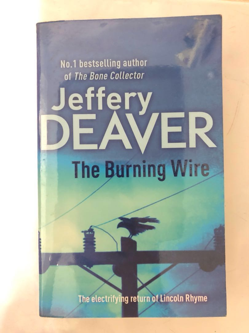 Super The Burning Wire 2010 Jeffery Deaver Books Stationery Fiction Wiring Cloud Hisonuggs Outletorg