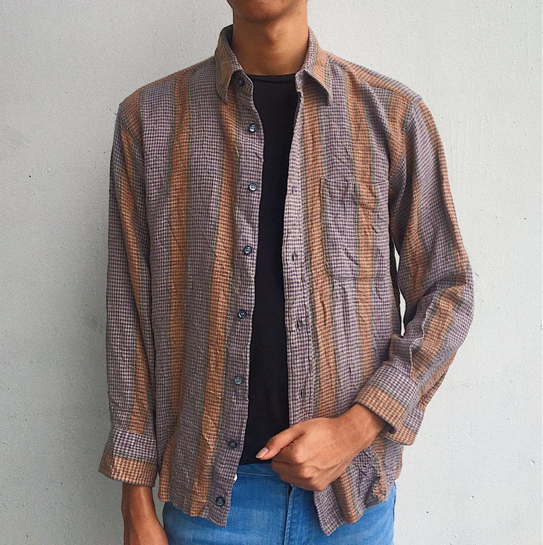 9472e0b13d0 Vintage Pierre Balmain Flannel Shirt, Men's Fashion, Clothes on Carousell