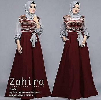 Vs Mx Zahira Maron L Atasan Fashion Baju Muslim Gamis Etnik Gamis