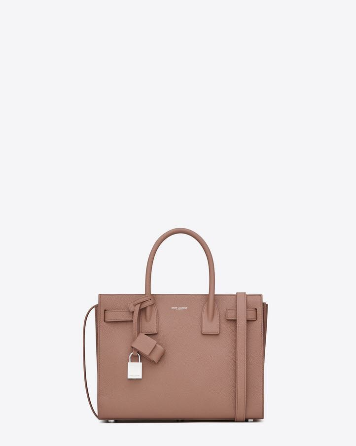 85d24cfaafdc YSL CLASSIC BABY SAC DE JOUR BAG IN LIGHT DUSTY ROSE GRAINED LEATHER ...