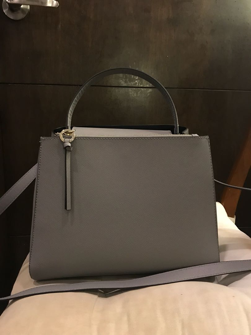 2fe4474e342 Zara medium tote bag with zip (grey), Women's Fashion, Bags & Wallets on  Carousell