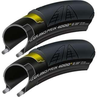 Continental Grand Prix 4000S II Folding Tyre Black - One pair (2 pcs)