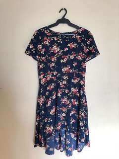 F21 High-Low Floral Dress