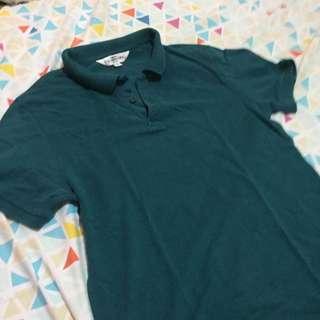 Slim fit green f&h polo shirt