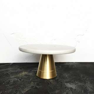 Marble Brass Cake Stand