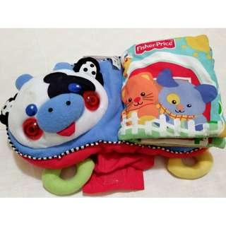 🚚 有聲布書 嬰兒車可用 嬰幼兒 兒童 故事書 讀物 玩具 教材 教學 撕不爛 撕不破