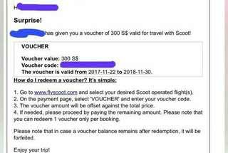 Scoot Voucher $300