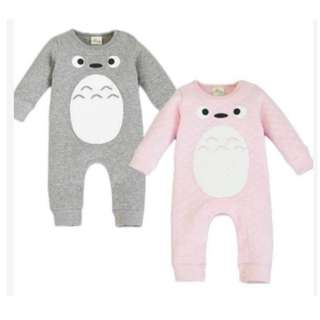Baby / Newborn Totoro Japanese Anime Cartoon Fleece Winter Thick Warm Clothing Long Sleeve Onesie Romper Jumpsuit