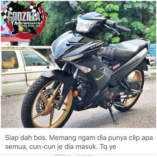 COVERSET Y15ZR MX KING HITAM MATTE 2017 2018 OEM STICKER TANAM