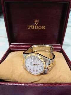Tudor Prince Date 74033 Half Gold Rolex