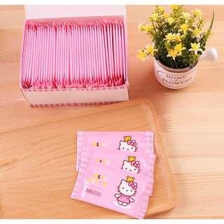 🚚 【現貨+24hr寄出 】Hello Kitty 濕巾單片獨立包裝 超純水濕巾 50包/盒