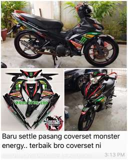COVERSET YAMAHA LC135 V2 V3 V4 GP EDITION MONSTER ENERGY HAFIZH SYAHRIN YAMAHA TECH 3