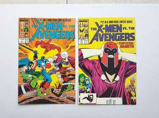 Marvel Comics Avengers vs X-Men 1 and 2 Near Mint Condition First X-Men Silvestri Art