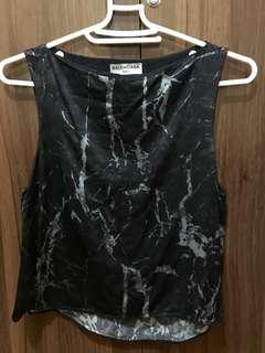 Balenciaga Black Crop Top