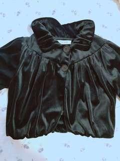 🚚 日本品牌 nonstop 晚宴風緞面絨布黑色外套