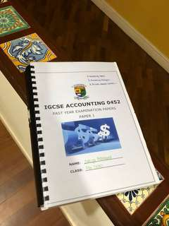 IGCSE Accounting Past Year Papers