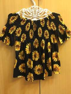 Sunflower off shoulder