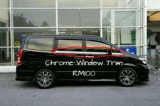 Nissan Serena C24 Chrome Window Trim
