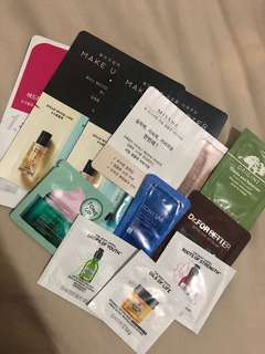 Skincare testers (korean,body shop,origins)