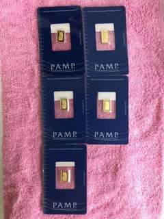 ( PAMP Pure Gold Bars - Gold 999 ) + others