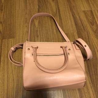 Pink boxy bag