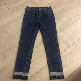 韓國修腳中腰牛仔褲 skinny jeans