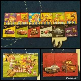 Winnie the Pooh and Cars mini books sets