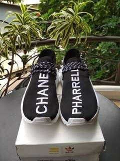 Adidas NMD Human Race Pharrell x Chanel Black White Grade Original