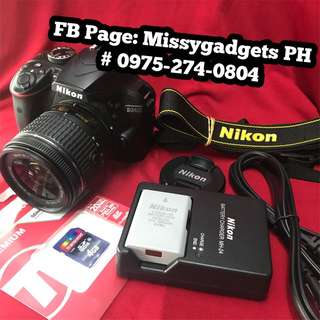 Nikon d3400 with 18-55mm and accessories (1k clicks only)