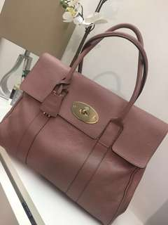 Mulberry Bayswater Tote Classic Grain Dark Blush