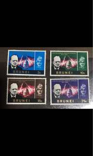 Brunei Sultan stamps Winston Churchill mounted mint set