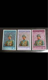 Brunei Sultan stamps coronation 1968 unmounted mint Set