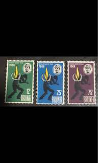 Brunei Sultan stamps human right 3v unmounted mint (slight tone gum)